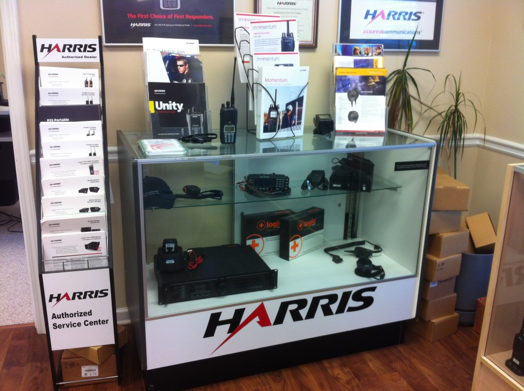harris communications display case