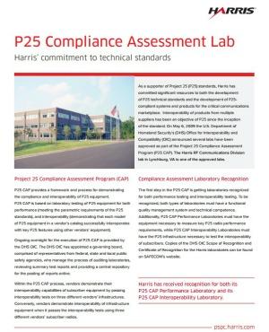 Harris P25 compliance lab