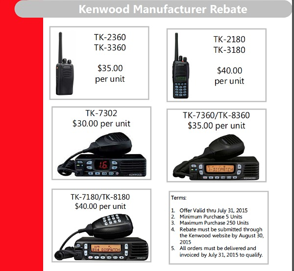kenwood manufacturer rebate